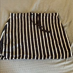 Terry Cloth Striped Skirt